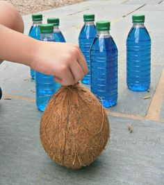 Summer Games for #Kids: #Bowling with #Coconuts