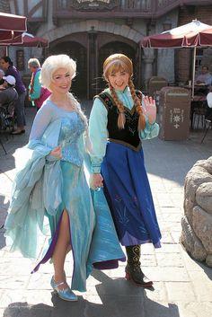 Frozen, Anna and Elsa.