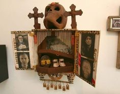 Lives displayed in cardboard | Cigar boxes find new life as altars in ...