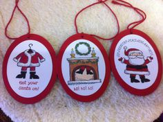 Stampin Up! get your santa on stamp set in the holiday catty 2014.