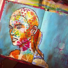 3-threequarter by Julie B. #Art #journal #colorful