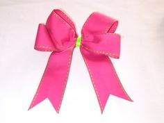 How to Make Hair Bows with Ribbon cheer bows how to, make cheer bows, how to make softball hair bows, diy hairbows with ribbon, make bows