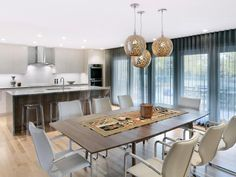Contemporary Dining Rooms in  from HGTV