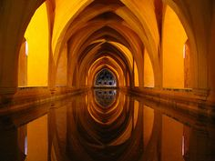 Alcazar; The Grotto at the Royal Palace, Seville, Spain