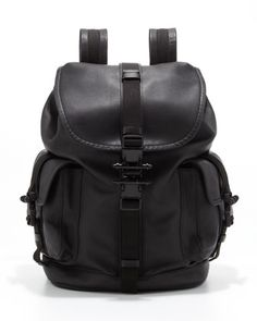 THE ONE WHO STILL CARRIES A BACKPACK - Givenchy Leather Backpack.