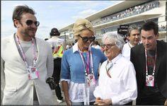 Good company! @SimonJCLeBON with Pamela Anderson, Bernie Ecclestone & Keanu Reeves at the US Formula 1 Grand Prix!