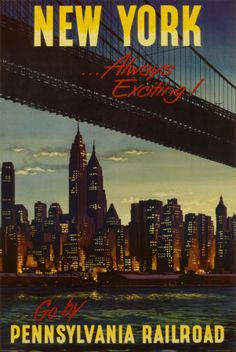 Vintage travel posters: New York by Pennsylvania Railroad