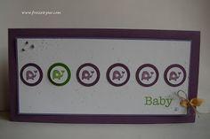 StampinUp! Ein Gruß für alle Fälle  - Karte zur Geburt _ Mädchen, kleine Elefanten, Baby, Stempel ... Freizeit ... pur