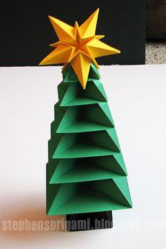 Di Stefano Origami: Origami Christmas Tree Tutorial