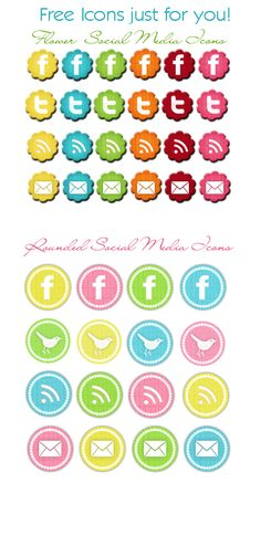 fun summer social media icons