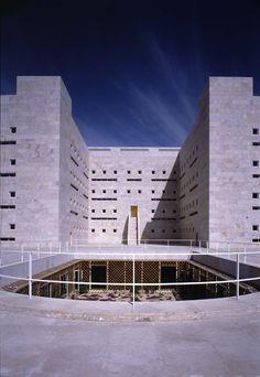Ministry of Foreign Affairs, Saudi Arabia by Henning Larsen Architects. #Light #design #entrance #yard #bricks