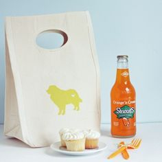 Canvas Lunch Bag | Puppy Love Doggy Bag You Design