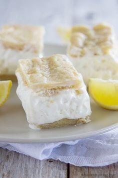 Lemon Bar Ice Cream Sandwich