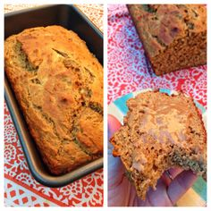 healthy & clean whole wheat almond butter banana bread