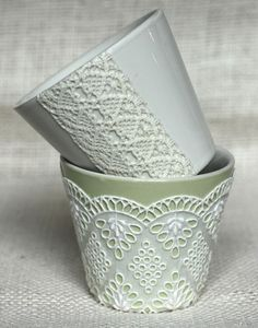 Decoupage with lace