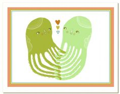 Holding Hands  greeting card by laurageorge on Etsy, $4.50