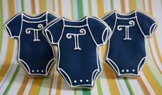 Custom Monogrammed Baby Shower Sugar Cookies