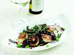 Seared Diver Scallops with Caramelized Fig, Benton's Bacon, Fava ...