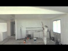 spray painting a ceiling how to paint a ceiling the easy way by. Black Bedroom Furniture Sets. Home Design Ideas