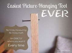 Easiest method to hang a picture