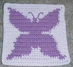 Perfect for Spring, this pretty Row Count #Butterfly Square is a fun project for the intermediate crocheter. It's a #crochet afghan pattern that you'll be happy to add to your collection.