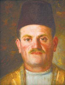 'Villager wearing a Tarboosh' (1923) by Khalil Saleeby