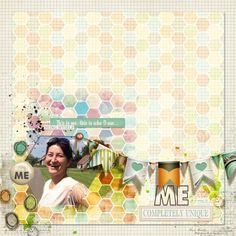 whitespace + bunting + hexagons