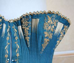 Insane Victorian flossed and embroidered corset.