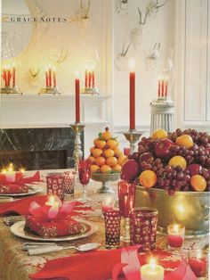 Carolyne Roehm's holiday table via Frances Schultz holiday glow, christmas tables, christma tabl, holidays, beauti christma, carolyn roehm, france, roehm holiday, holiday tables