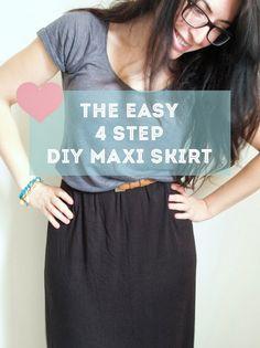 The easy 4 step DIY maxi skirt