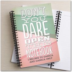 Don't You Dare - Paper Notebooks in Basil or Polenta | Hello Little One