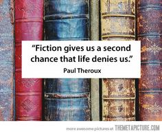 """Fiction gives us a second chance that life denies us."" Why I love reading…"