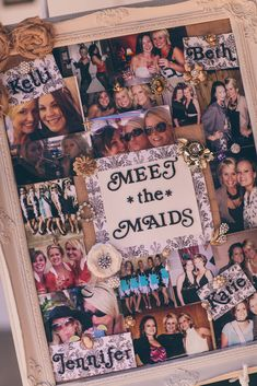 """Introduce your wedding guests to your #bridesmaids in this adorable """"Meet the Maids"""" idea! -- i would want this for myself"""