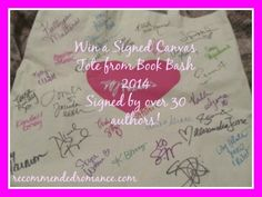 Enter to WIN a Canvas Tote Signed by 30+ Authors #BookBash2014