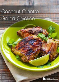 Coconut Cilantro Grilled Chicken Recipe