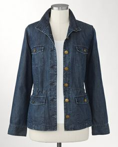 Tencel� denim cargo jacket