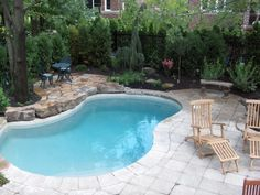 Small pool idea,  add a fire pit, and a ace to eventually put a hot tub. large stones, less time and money diy