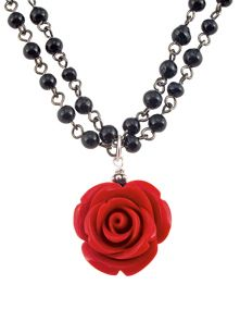 O, my luve's like a red, red rose,  That's newly sprung in June.    -Robert Burns (Red Rose Necklace, $32)