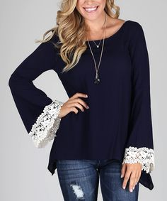 Pretty sweater, love the lace trim.