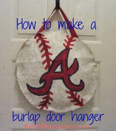 DIY Burlap Door hanger!