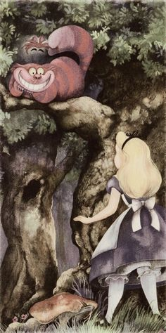 Alice and the Cheshire Cat - Alice in the Wonderland