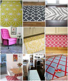 painted rug tips from @Jennifer Hadfield (TT)
