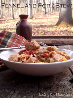 {Slow Cooker} Fennel and Pork Stew | Taking On Magazines | www.takingonmagazines.com
