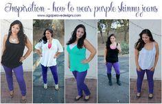 Agape Love Designs & Photography:   5 Ways To Wear Purple Skinny Jeans