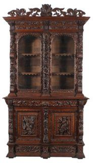 19th-C. French Hunting Cabinet