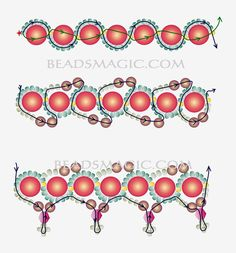 bead necklac, beaded necklaces, free pattern, blackberri jam, seed beads