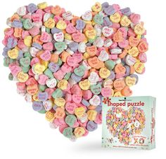 Candy Heart shaped puzzle.  Be fun to put together