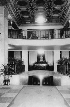 "Historic Photos of Toledo - Commodore Perry Hotel Lobby - 1950. An excerpt from ""Historic Photos of Toledo"" by Gregory M. Miller"