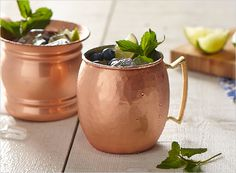 Blueberry Moscow Mules