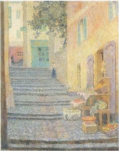 Henri Le Sidaner - The Italian Boutique [1924]